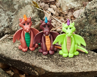 Dragon Handmade Polymer Clay Sculpture