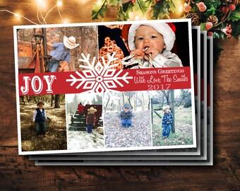 Rustic, Vintage, Farmhouse, Shiplap Theme Custom Christmas Photo Cards- 5x7 Digital and Printable