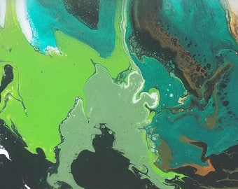 Abstract Art, Acrylic on Canvas
