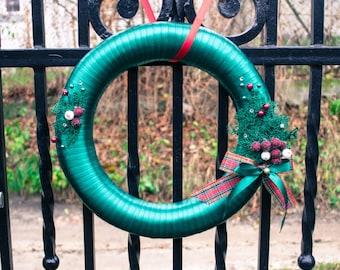 Christmas Door Wreath, Door decoration, Winter Wreath, Winter Berry Wreath, Green fashion Winter Wreath, Christmas decoration