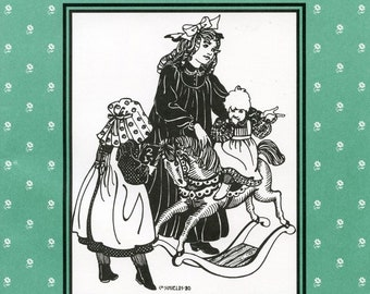 Folkwear Child's Prairie Dress, Pinafore and Sunbonnet - Girls' sizes 2-10 Sewing Pattern # 213