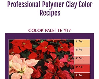 FIMO Professional Polymer Clay Color Mixing Recipes for Color Palette #17