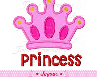 Instant Download Princess Crown Applique Embroidery Machine Design NO:1695