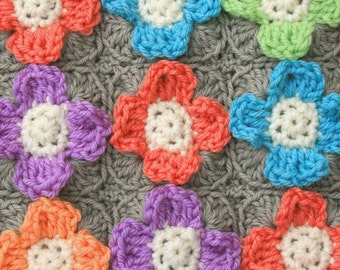 Mini Flower Block - PDF Crochet Pattern