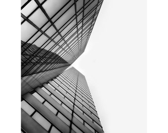 Chicago Skyscraper Print, Photography, Building, Black and White, Symmetry, Architecture, Fine Art Photography, 5x7, 8x10, 11x14