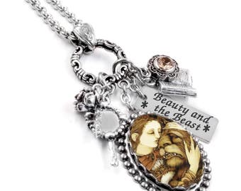Beauty and the Beast, Beauty and the Beast Necklace, Beauty and the Beast Pendant, Beauty and the Beast Jewelry