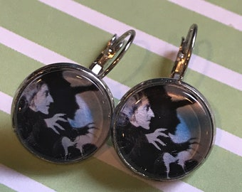 Wicked Witch of the West cabochon earrings - 16mm