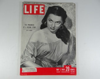 1950 Life Magazine, May 1, The Progress of a Rising Star - Ruth Roman - Yankees and Red Sox