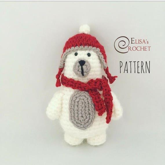 CROCHET PATTERN TED the Polar Bear Amigurumi doll / Stuffed