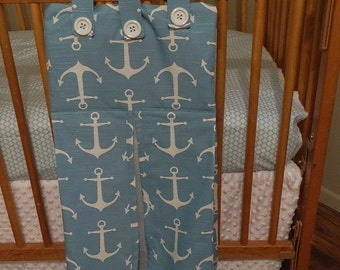 Anchor diaper stacker