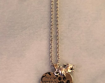 Memorial pet necklace - silver plated