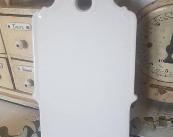 Vintage onion board,  cheese board,  breakfast board,  Vintage cutting board, Highly collectible, white porcelain cutting board, onion board