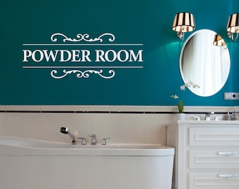 Powder Room Decal - Bathroom Wall Decor - Restroom Wall Decal - Powderroom