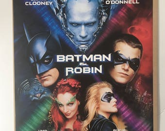 Vintage 90s Original 1997 Batman and Robin movie promo poster