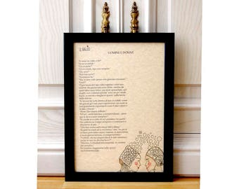 Paintings of short stories, handmade illustrations, personalized drawings and stories, unique gifts, paintings with or without frame