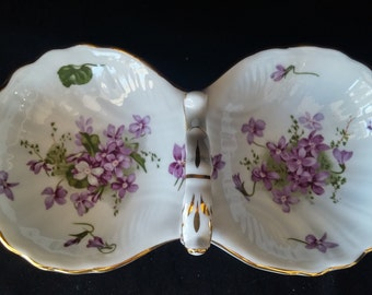 Hammersley Victorian Violets Candy Dish