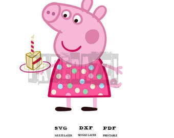 Peppa Pig SVG DXF Electronic cutting files for Cricut Design Space - Silhouette Studio