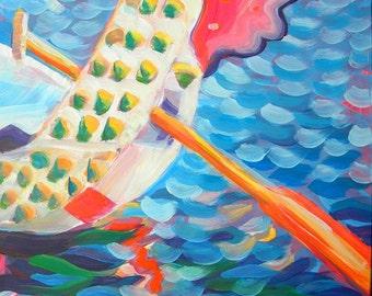 Portland Rose Festival Float original Oregon oil landscape painting