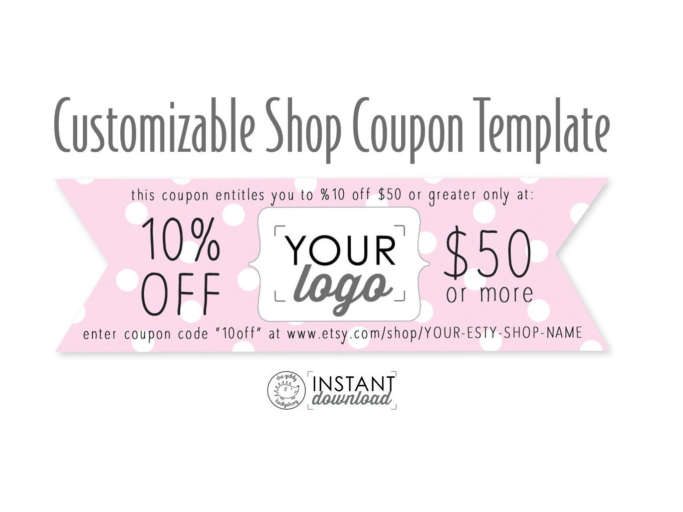 Pretty Pink Printable Coupon, Personal Coupon, Coupon Template ...