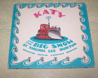 Vintage Katy and the Big Snow children's illustrated book Virginia Lee Burton Weekly Reader Children's Book Club