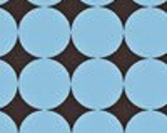 1 yard of Blue Disco Dot