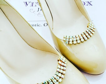 1950's Auora Borealis Shoe Clips
