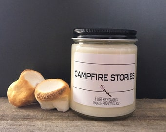 Campfire Stories - Summer Inspired Candle - 8oz glass jar