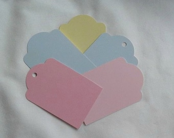 Pastel Gift Tags / Jewelry Cards / Set of 10