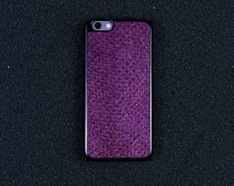 Purple Salmon Leather iPhone Case - iPhone 8/7/6S/6 - Made in Germany by Icecase