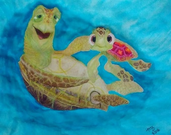 Crush and Squirt. Finding Nemo (Print)