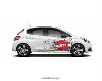 "Universal vinyl car  graphics and decals kits ""Supreme Pop ART"""