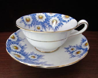 Grosvenor Bone China Teacup And Saucer Set By Jackson & Gosling Ltd. Made In England
