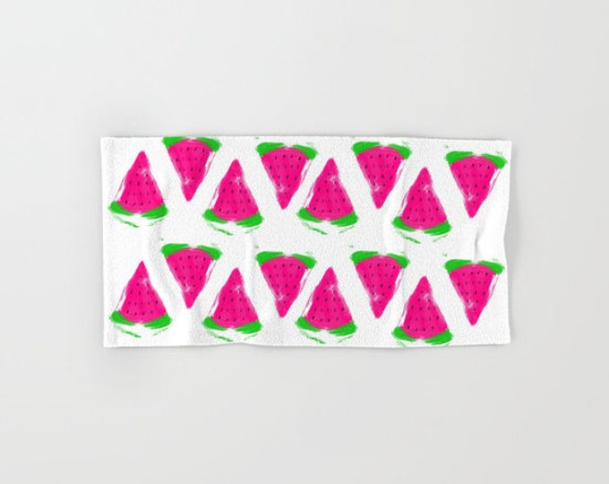Hand Towels - Watermelon Towels - Microfiber - Cotton Terry Cloth - Made to Order