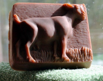 Vanilla Oil Added Goat Soap, Goat's Milk Soap, Pricilla the Goat Soap, Goat Motif Soap, Scented Deer Soap, Handmade Soap, Montana Made Soap