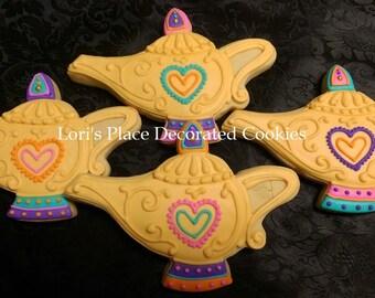 Genie Lamp Cookies - Aladdin Lamp Cookies - 12 Cookies