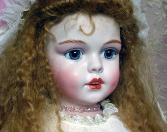 Simon & Halbig 1279 bisque doll with silk costume entirely made by Emily Hart