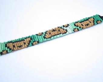Teddy Bear Bracelet, Bear Friendship Bracelet, Cute Kawaii Bracelet, Peek-a-Boo, Casual Bracelet, BFF Bracelet, Stackable, Macrame Bracelet