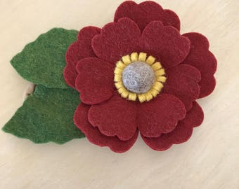 Large fall flower headband // clip