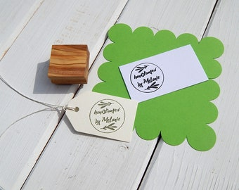 Pretty Foliage Custom Handstamped By Olive Wood Stamp