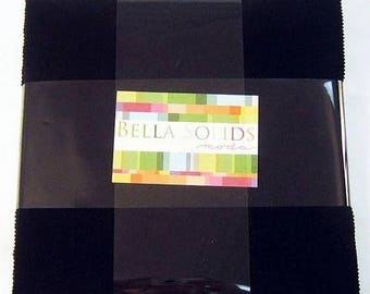 Bella 99 Black  Layer Cake by  Moda-