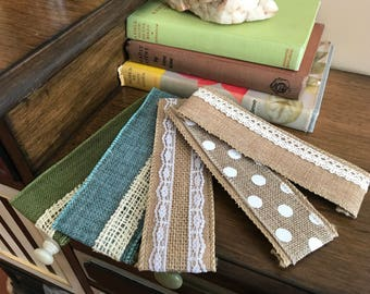 Burlap Bookmark