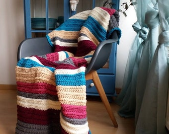 "Crocheted blanket  ""Nikita"""