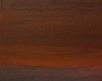 """Abstract painting """"Horizon No 3: Baltic sea before sunset without ships"""""""