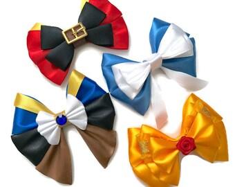 Beauty & the Beast Disney Inspired Gaston Belle Beast Hair Bow