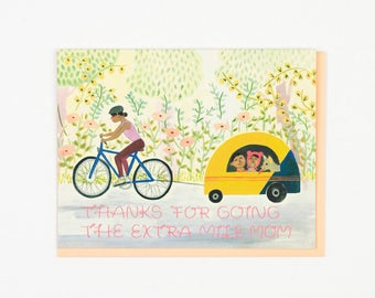 Mom Biking Card