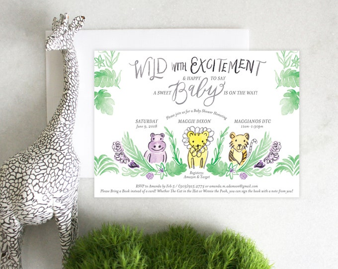 PRINTABLE Baby Shower Invitation | Jungle Fever