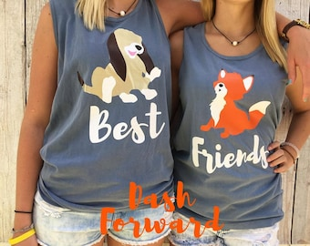 Todd and Cooper Vinyl Tshirt/Tanks, best friends, vinyl, glitter
