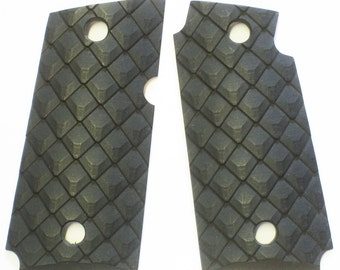 "DURAGRIPS - Kimber Micro Carry 9mm 9 Tactical Grips - "" PANGOLIN SCALES "" Black"