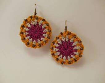 Crochet Earrings Mandala