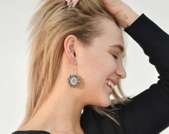 Rock'n'Rollish Earrings/ Statement Earrings / Spiky Earrings / Steel Earrings / Grey Earrings / Punk Earrings / Fun Earrings